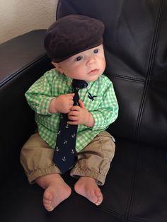 Irish baby fashion - 4 months old boy Cute Little Baby, Little Man, Cute Babies, 3rd Baby, Baby Boy, Baby Pictures, Baby Photos, Irish Baby, One Step