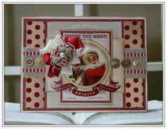 Polly's Paper Studio. Santa Christmas card