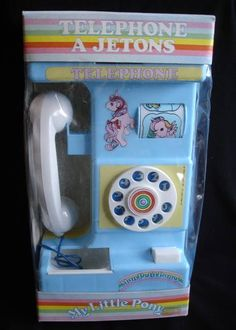 My Little Pony toy telephone Vintage Advertisements, Vintage Ads, My Little Pony Twilight, Vintage My Little Pony, My Little Pony Merchandise, Apple Seeds, Kids Zone, Club Kids, 80s Kids