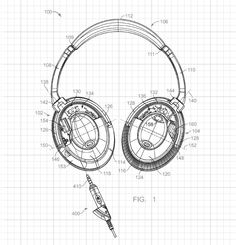 Bose Quietcomfort patent. The nifty tear-away connector has saved me from breaking the cable MANY times. Great sound quality too.