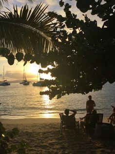Coucher de soleil à Cooper Island.
