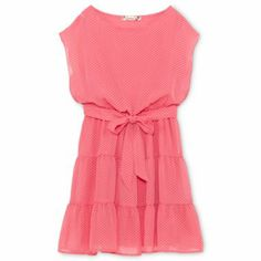 coral girls dress