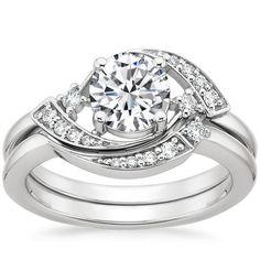 18K White Gold Iris Diamond Matched Set, top view