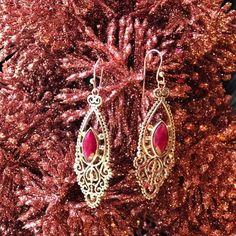 Raw Ruby earrings #ziajewels #fallfashion #earrings #womensfashion