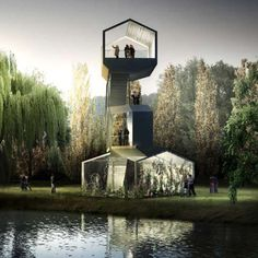 Swiss architects HHF and French architects AWP have won a competition to design a series of follies for a new park outside Paris.