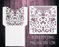 This laser cut SVG invitation monogram frame / Belly band wreath template was created using my original hand drawn design. Perfect for Baby Showers, Birthdays, Christening, Weddings, Cardmaking etc. You can resize envelope size as you wish in your cutting software without loosing detail.  ----YOU WILL RECEIVE----  1 ZIP file- 10 file formats  ♥ 1 EPS, SVG, CDR, DXF, DWG, AI, PLT (vector formats)  ♥ 1 PNG (raster format with transparent background)  ♥ 1 PDF(Portable Document Format)  ♥ 1 ...