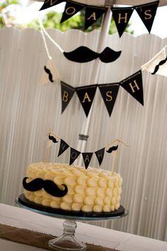 Mustache bash. Mustache cake