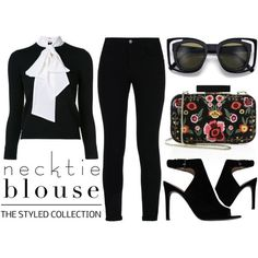 Necktie Blouse  - The Styled Collection