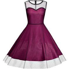 Vintage Plus Size Party Dress (€16) ❤ liked on Polyvore featuring dresses, womens plus dresses, purple vintage dress, plus size vintage dresses, plus size dresses and vintage cocktail dresses