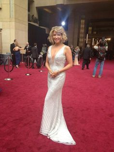 The stunning Cheryl Hickey from ET Canada hosts The Oscars red carpet wearing Ines Di Santo 'Emmy' gown! Oscars, Cheryl, Spotlight, Red Carpet, Canada, Celebrity, Gowns, Couture, Bridal