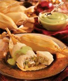 Avocado Turkey Tamales with Avocado Coulis Recipe #Avocados
