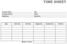 Free Printable Timesheet Templates | Free Weekly Employee Time Sheet ...
