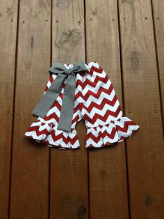 Girls Game Day Ruffle Pants Capris or Knee by EverythingSorella, $29.50