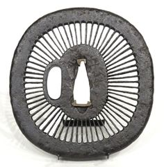 Nadegakugata iron Tsuba (sword guard), Edo period, Japan