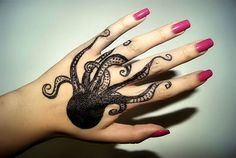 """""""Octopus hand tattoo"""" - nimble hands with long piano fingers if the suckers don't stick ~:^D"""