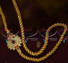 Thali Chain Designs with Side Mugappu_Mangalsutra chain designs Gold Mangalsutra Designs, Gold Earrings Designs, Necklace Designs, Gold Chain Design, Gold Jewellery Design, Gold Chains For Men, Beaded Jewelry, Gold Jewelry, Jewelry Shop