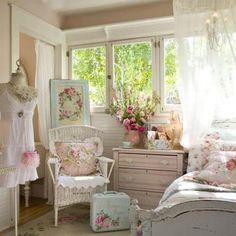 Pastel Shabby Chic para un dormitorio dulce