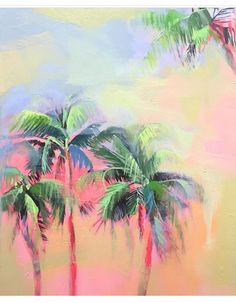 Teil Duncan watercolor art —palm trees