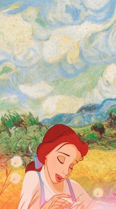 Some iPhone 5 Disney & Van Gogh wallpapers! Belle(source:annabjorgmans.tumblr.com)