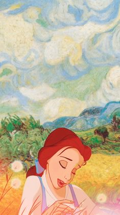 Some iPhone 5 Disney & Van Gogh wallpapers! Belle(source:annabjorgmans.tumblr.com)