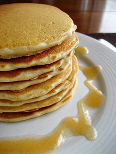 Very easy dairy free pancakes - yumm! I used whole wheat flour and Rice Milk - so simple and perfect.