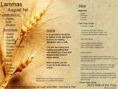 Happy Lammas, Bright blessings to you and your family christian, pagan, wicca, druid or shaman!