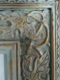 chalk paint an old metallic frame - Google Search