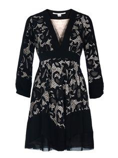 DIANE VON FURSTENBERG  Fern Abstract Dress - Black  €420.00 Malene Birger, Dress Outfits, Dresses, Fern, Diane Von Furstenberg, Just In Case, Designer, Lace Dress, Silk