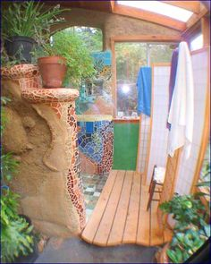 Earthship shower