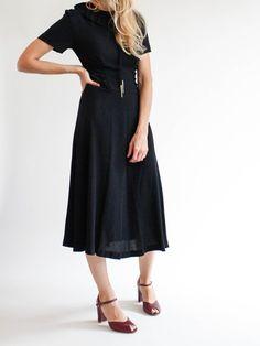 Maison Mayle - Bolo Bow Tie Dress - Black