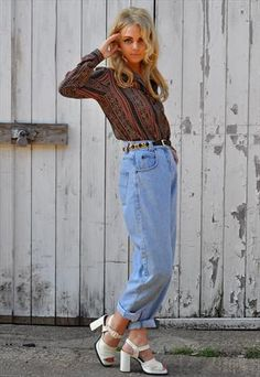 Vintage 80s Womens Levis 501 HIGH waisted JEANS / Womens