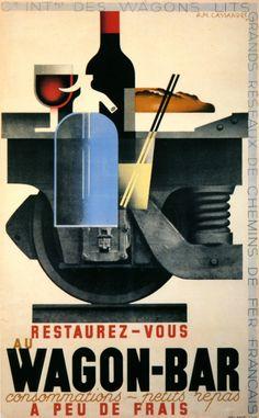 Wagon-Bar. Cassandre, 1932