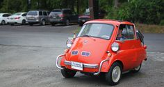 Looking for similar pins? Follow me! pinterest.com/kevinohlsson | kevinohlsson.com 1958 BMW Isetta 300 1-cyl. 298cc/13hp steering wheel that hinged outwards with the single front-opening door. 1958 Sticker price: $1093. 160000 cars built between 1955 and 1962. [OC] [1440  771]