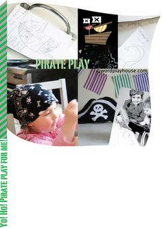The story of pretend play + pirate play ideas and books