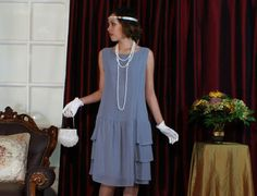 Downton Abbey inspired grey dress with von HouseOfRecollections