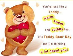 Lovely teddy bear day status, teddy bear day quotes, teddy day message, teddy day wishes. Teddy Day Pic, Teddy Day Photos, Happy Teddy Day Images, Happy Teddy Bear Day, Teddy Images, My Teddy Bear, Cute Teddy Bears, Valentine Day Week, Happy Valentines Day Images