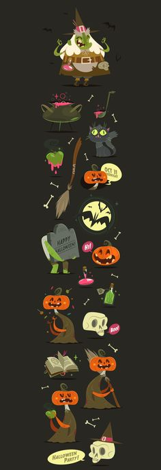 Halloween Vector Set on Behance