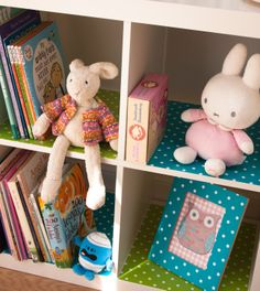 Use d-c-fix sticky back plastic to cover shelves of a plain storage unit to give an individual designer look.