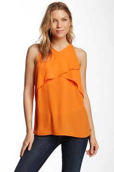 Vince Camuto | Sleeveless Crossed Layered Front Blouse | Nordstrom Rack