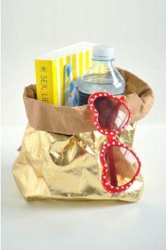 Brilliant! Gold washable paper bags