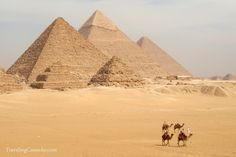 Pictures from the Great Pyramids of Giza in Egypt