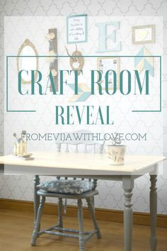 How I Created MY Dream Craft Room on a Budget - The BIG REVEAL - From Evija with Love @evijaroberts  : Featured post on Turn It Up Tuesdays