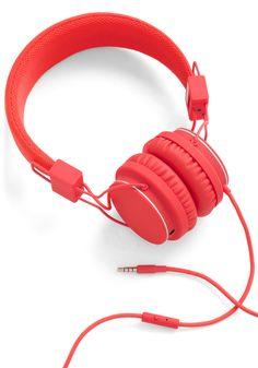 Thoroughly Modern Musician Headphones in Tomato | Mod Retro Vintage Electronics | ModCloth.com
