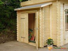 Remise adossée pour abri de jardin en bois L178cm