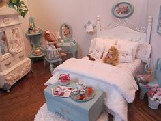 OOAK, fashion doll bedroom 1:6 scale