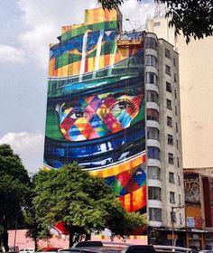 Street Art by Kobra in Brazil – Ayrton Senna.