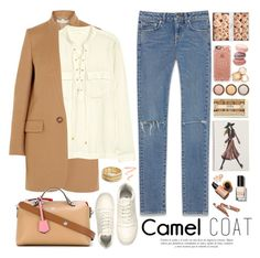 """2373. Wear a Camel Coat!"" by chocolatepumma ❤ liked on Polyvore featuring H&M, STELLA McCARTNEY, Yves Saint Laurent, Fendi, Nanette Lepore, Burberry, Sinclair, By Terry, Casetify and Roberto Coin"