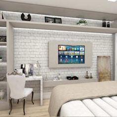 Dormitorios de estilo moderno de LARISSA REIS ARQUITETURA