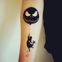 Nothing really beats a Tim Banksy tattoo. | 27 Beautifully Haunting Tim Burton Tattoos