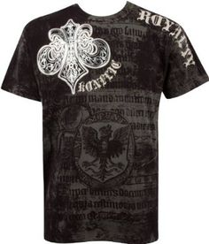 Royalty Metallic Silver Short Sleeve Crew Neck Cotton Mens Fashion T-Shirt,$15.95 - $49.99Lower price available on select options